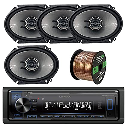 """50 Foot Wire Audio Pipe 6X8/"""" and 6.5/"""" Car Stereo Speakers JVC CD AUX Radio"""