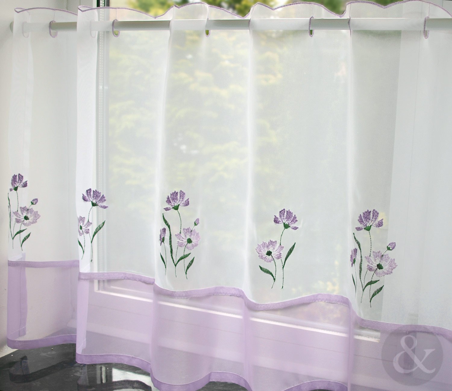 Kitchen cafe curtains - Caf Net Curtains Kitchen Nets Ready Made Voile Curtain Panel Amazon Co Uk Kitchen Home