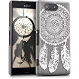 kwmobile Étui transparent élégant avec Design attrapeur de rêves pour Sony Xperia Z3 Compact en blanc transparent