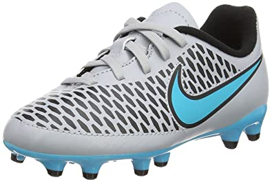 48975cc30a271 Nike Jr. Kids Magista Onda FG Soccer Cleat (Wolf Grey, Turquoise Blue)