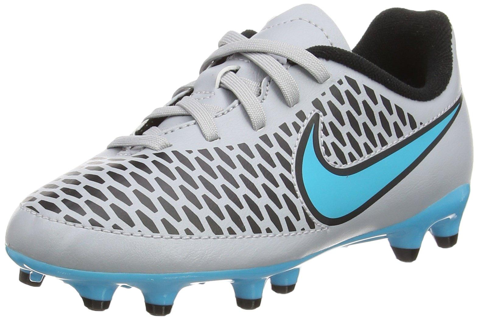 Nike Jr. Kids Magista Onda FG Soccer Cleat (Wolf Grey, Turquoise Blue) (5.5 M US Big Kid, Wolf Grey Turquoise Blue)