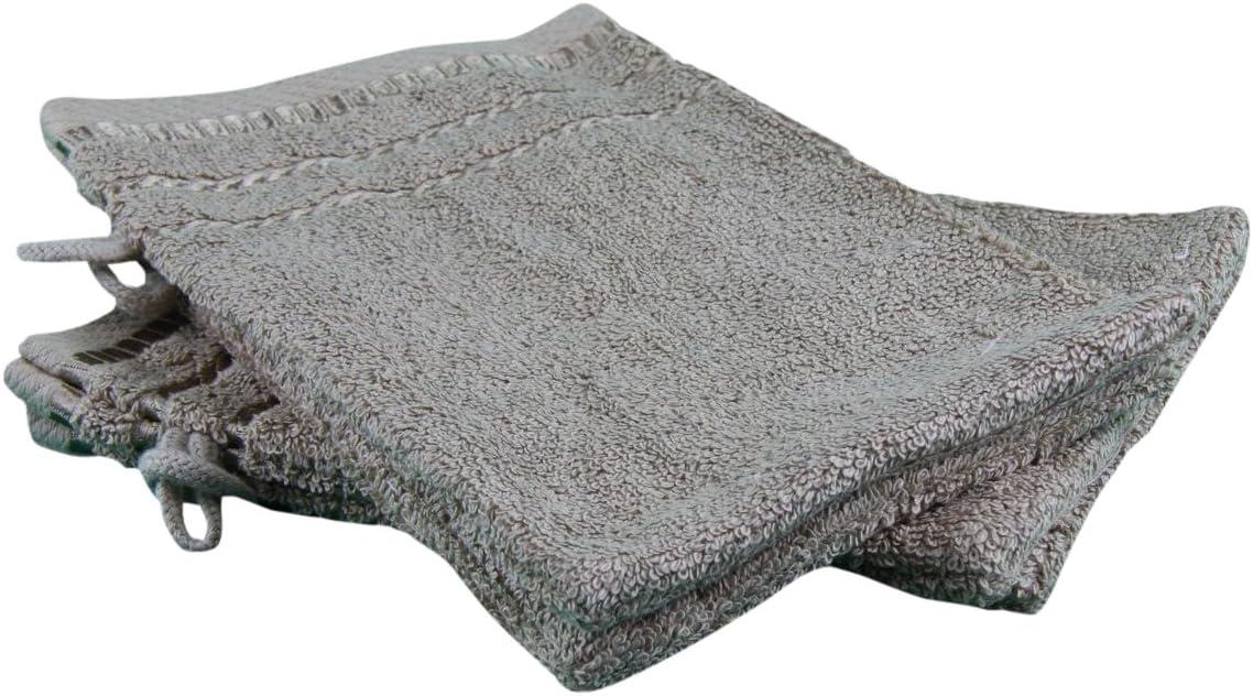 Gözze Manopla de baño, algodón Rizado, Pardo, 17 x 24 cm: Amazon.es: Hogar