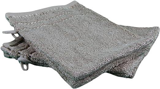 Gözze Manopla de baño, algodón Rizado, Pardo, 17 x 24 cm: Amazon ...