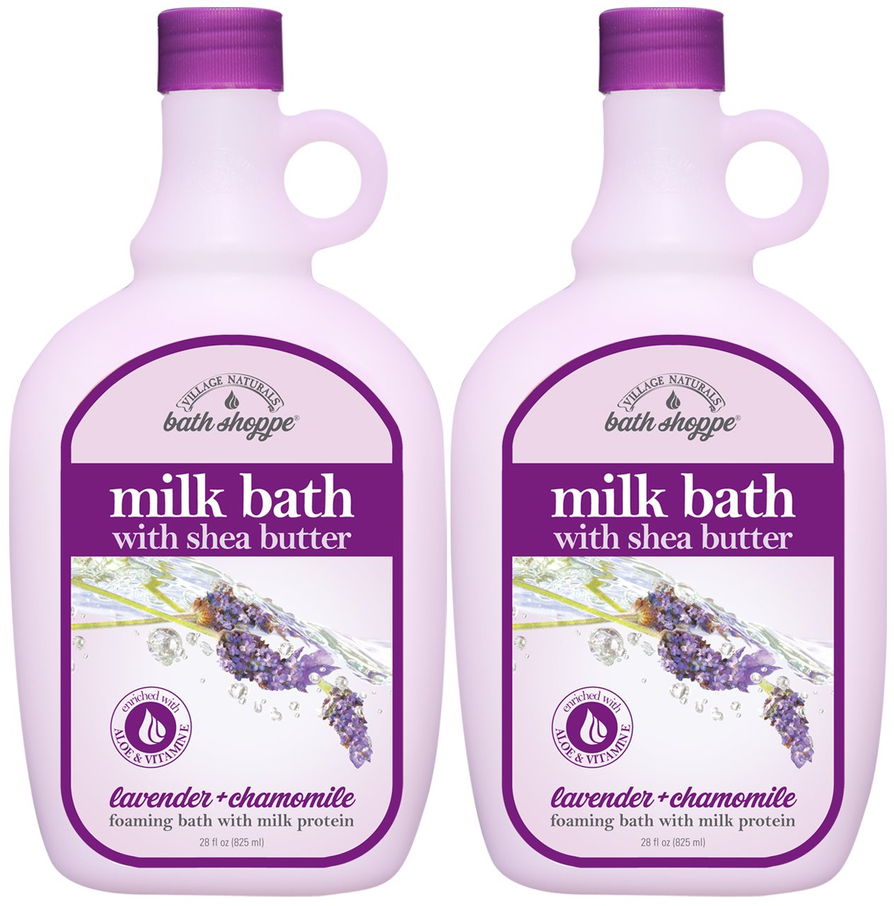 Village Naturals Bath Shoppe English Lavender Milk Bath 28 Fl Oz. 2-pack 66001