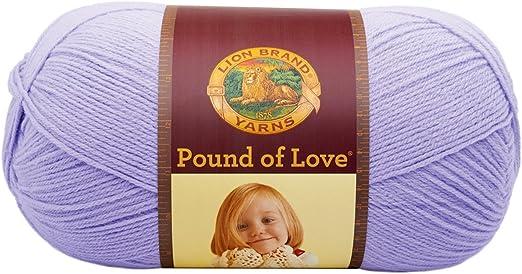 Lion Brand Yarn 550-144 Pound of Love Yarn Lavender 1 skein
