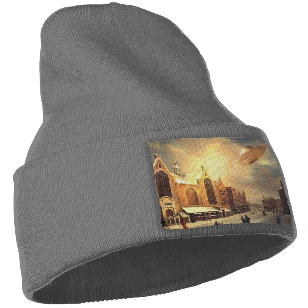 UFO Men Women 100/% Acrylic Kintted Beanie Hat Slouchy Serious Style Beanie