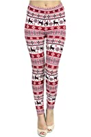 Viv Collection Women's Seasonal High Quality Printed Leggings for Fall/Winter