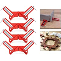 Itian 4 stuks 90 graden rechthoek op verstekklem capaciteit Picture Frame Jig rood