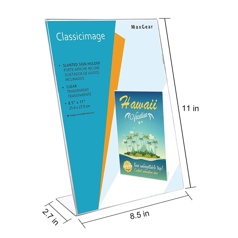 Amazon.com: MaxGear - Soporte de carteles de acrílico para ...