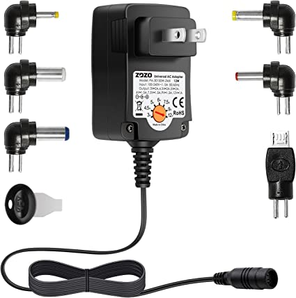 Amazon.com: Cargador CA universal Zozo multi voltaje para ...