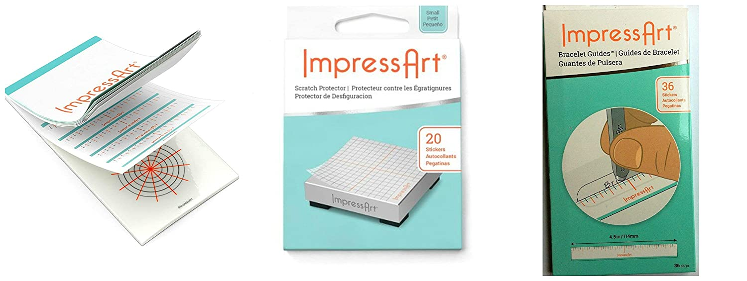 Amazon ImpressArt 3 Stamp Guides For EZ Spacing Lining Up Of Your Intricate Stamping Designs