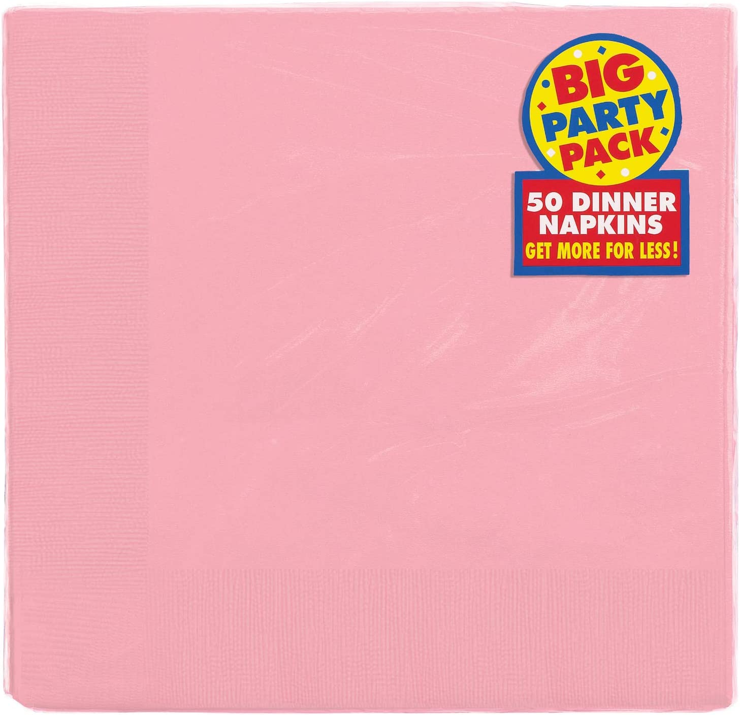 Amscan 2-Ply New Pink Dinner Napkins, 50 Ct. | Party Tableware