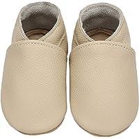 Yavero Zapatos de Bebe Suave Zapatillas de Cuero Cómodas Zapatillas de Andar Bebe Ligeros Zapatitos Primeros Pasos, 0-24…