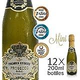 Premier Estates Mini Prosecco DOC Sparkling Wine 20cl (12 x 20cl Bottles)