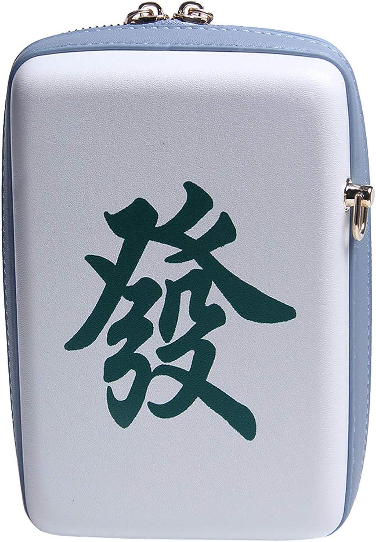 Oweisong Women Chic Chinese Mahjong Crossbody Bag Square Box Purse Retrp Cute Lock Closure Shoulder Handbag