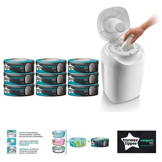 Bandeja de pañales Tec blanco + 9 recambios Tec Multipack: Amazon.es: Bebé