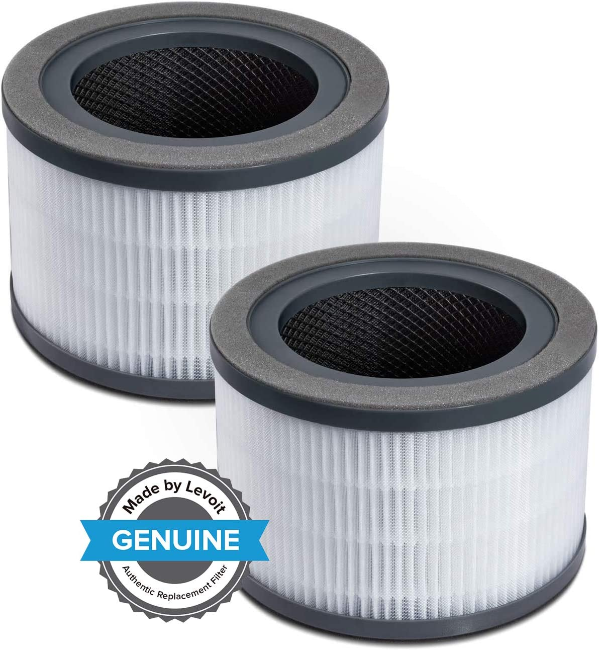 LEVOIT Vista 200 Air Purifier Replacement Filter, 3-in-1 Nylon Pre-Filter, True HEPA Filter, High-Efficiency Activated Carbon Filter, Vista 200-RF, 2Pack