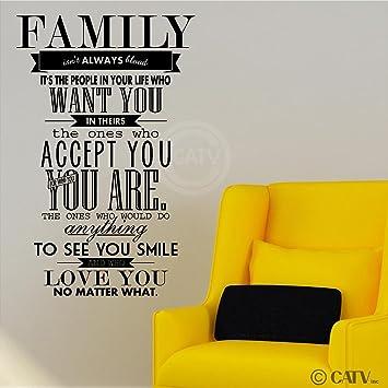Amazon.com: Family Isn\'t Always Blood (M) Wall Saying Vinyl ...