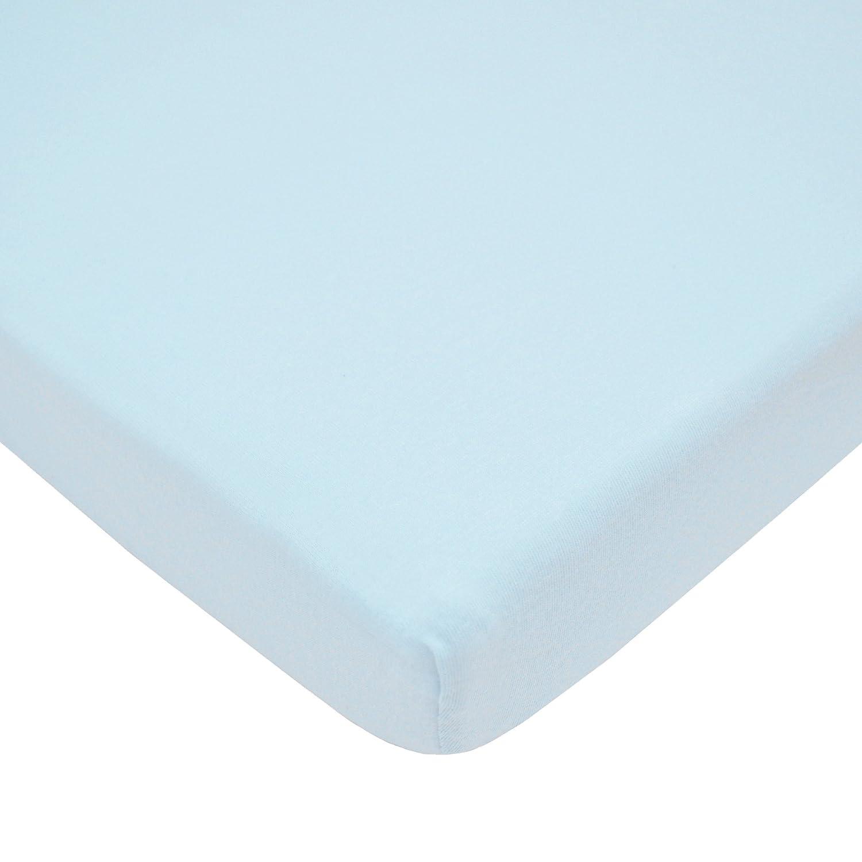 3-Piece Blue American Baby Company 1510SS-BL Heavenly Soft Minky Dot Porta-Crib Set