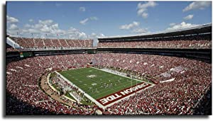 Alabama Crimson Tide Bryant Denny FOOTBALL Stadium Wall Art for Living Room Print Artwork Wall Art Decor Poster Painting Canvas Prints Picture Home Office All Decor -321 (No Framed,16x32 inch)