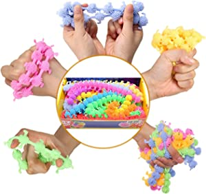 HEAWAA Fidget Toys for Kids 8 Pack Stretchy String Sensory Play Toys,Relieve Stress and Anxiety for Home School and Office