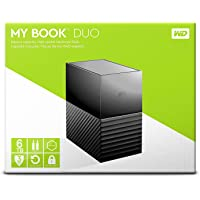 My Book Duo 6TB High Capacity External Hard Drive with Automatic Backup and Password Protection & Hardware Encryption
