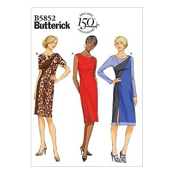 Butterick Schnittmuster 5852 A5 Kurzgrößen Kleid,Dress