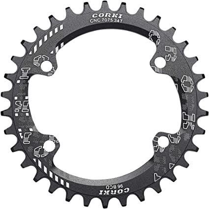 Circle Chainring BCD96 for Shimano XT M8000 M7000 Narrow wide 1x System 32T 34T