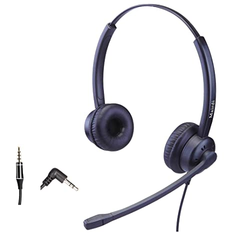 phone headset with 2 5mm jack for office with noise cancelling mic compatible with jabra cisco polycom panasonic plus 3 5mm connector for cell phone 4-20mA Wiring