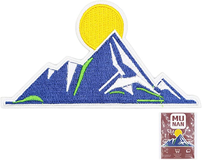 Mount Fuji Mountain Climbing Patch Embroidered Patch Iron  Sew-On Badge Emblem Biker Applique