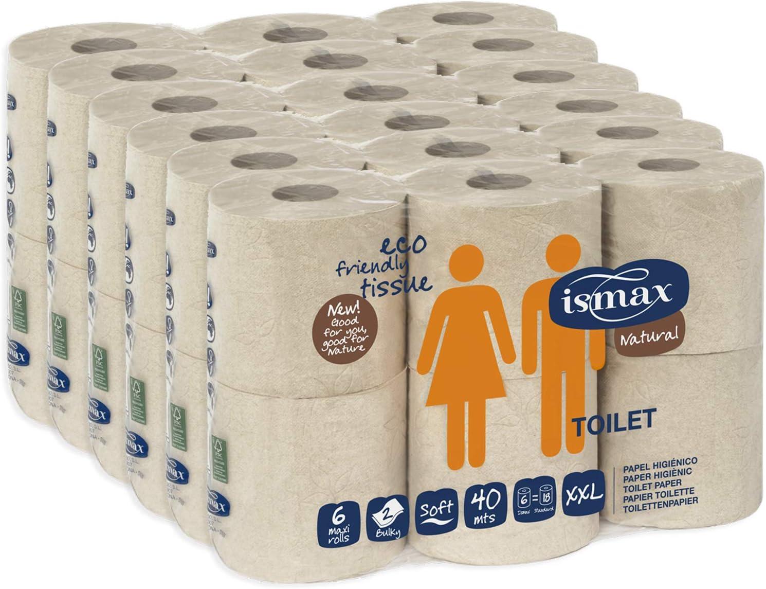Papel Higiénico Reciclado Baño Rollo Ecologico Wc Pack 36 unidades ...
