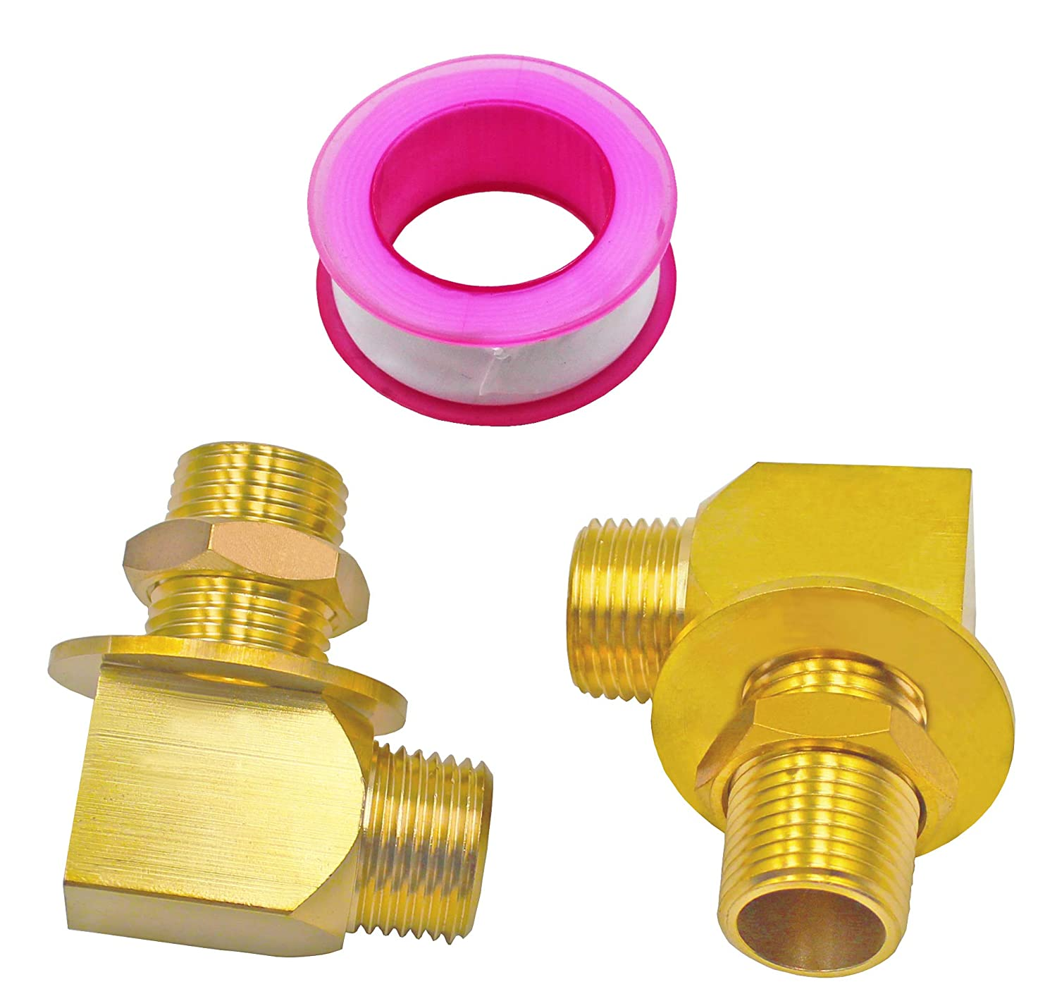 Gold T /& S Brass Sold in Pairs B-0230-K Installation Kit 1//2 Short Elbow NPT Female x Male New for T/&S B-0230 Style Series TS Brass B-0674-RGH Service Sink Faucet