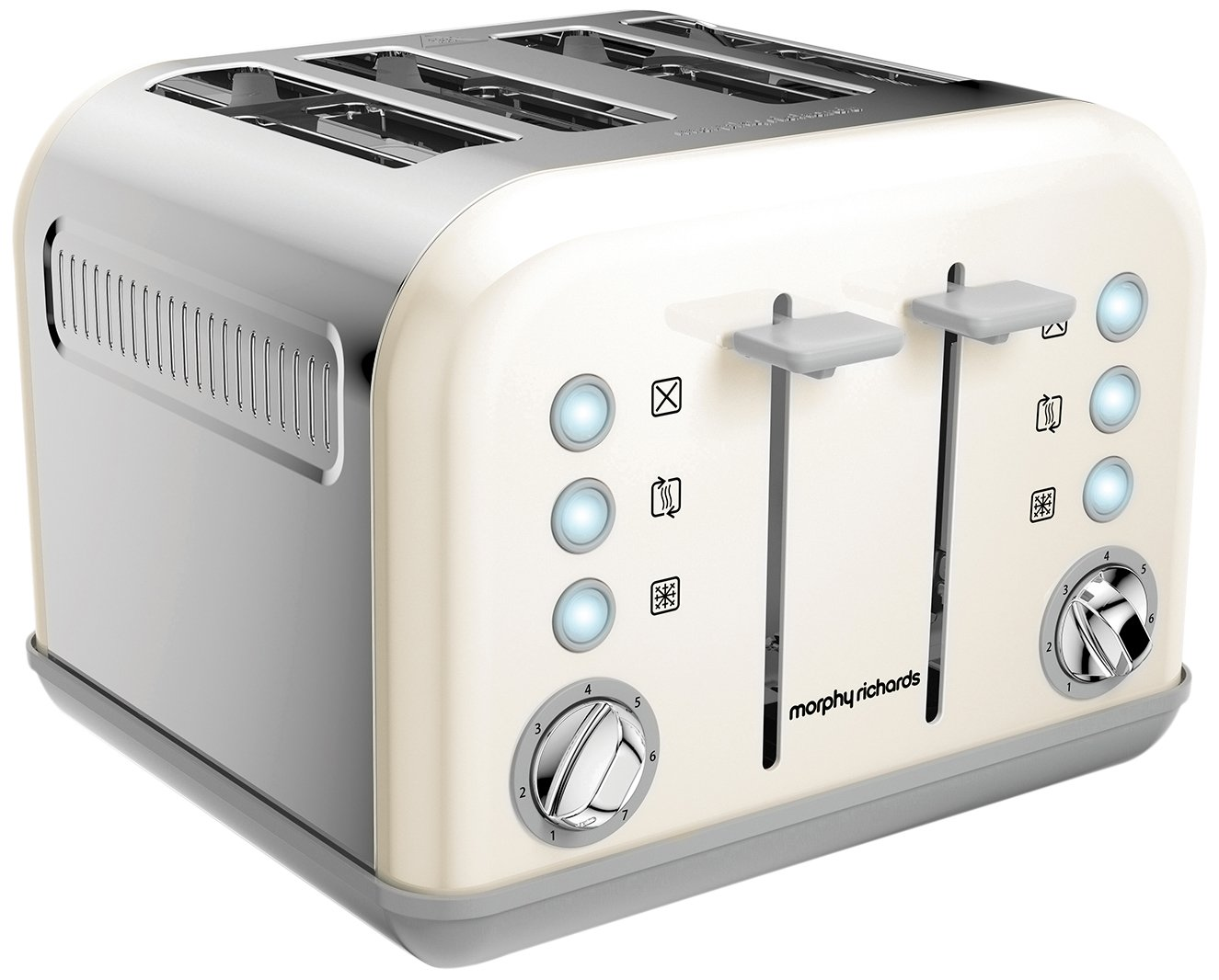 Black Morphy Richards Accents Special Edition 4 Slice Toaster