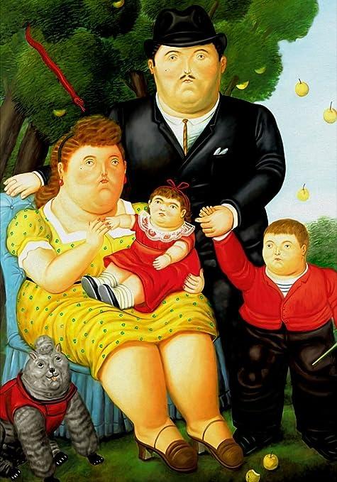 14 La Famiglia Poster cm 70x100 Poster Stampa Arte Arredamento Riproduzione su Carta Opaca Matt Serigrafia Digitale Papiarte Botero Art