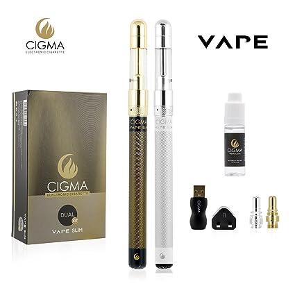 Cigma Vape Delgado Kit | La más pequeño recargable E Cigarette Starter Kit | E Shisha