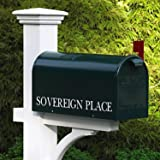 """21"""" Handcrafted Dark Evergreen Outdoor Yard and Patio Mailbox"""