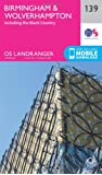 ORDNANCE SURVEY Landranger 139 Birmingham & Wolverhampton Map With Digital Version