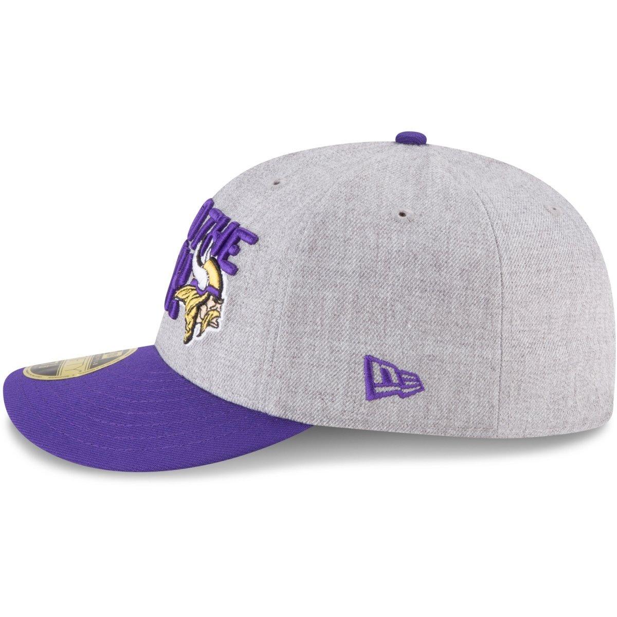 New Era 59Fifty Low Profile Cap Draft Minnesota Vikings
