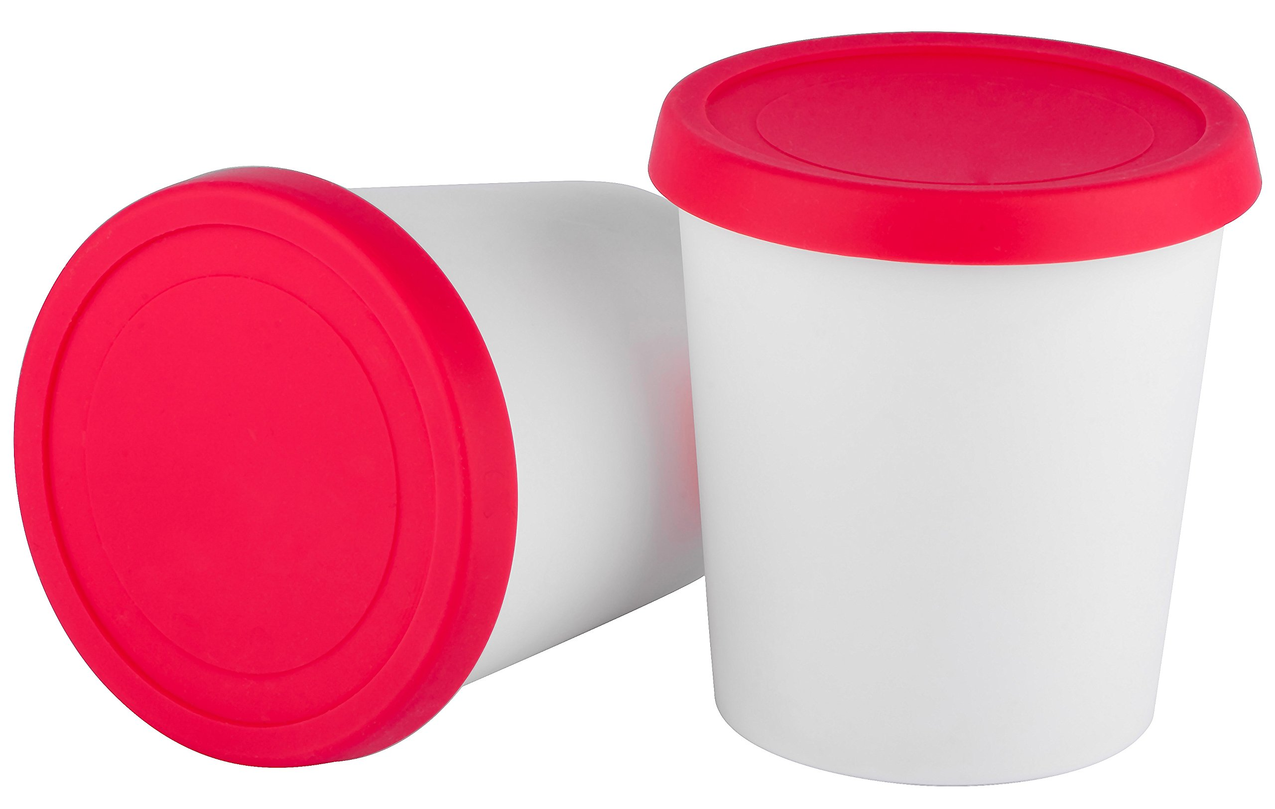 StarPack Home Ice Cream Freezer Storage Containers Set of 2 with Silicone Lids by StarPack Home