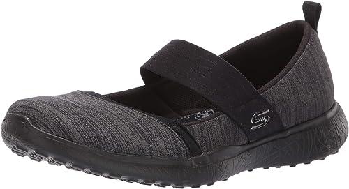 Skechers Womens Microburst Tender Soul Shoes Black Sports Breathable Lightweight