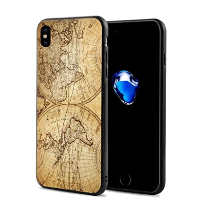 coque iphone x map