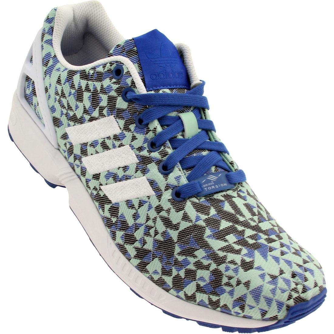 adidas ZX Flux Weave Men's Running Shoes B00O2CGN7G 10.5 B(M) US|Blue/White/Black