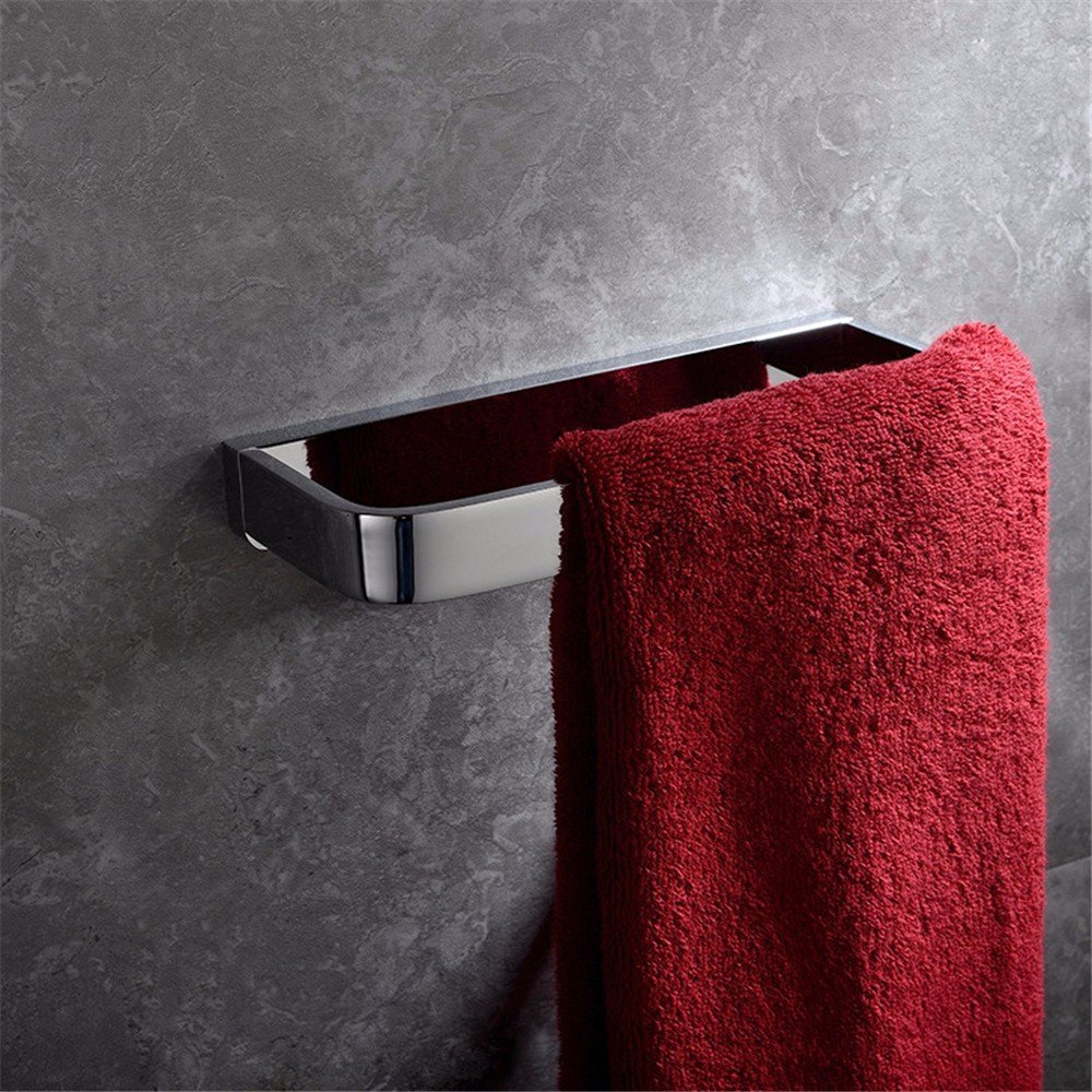 HOMEE All Copper Bathroom Towel Ring Solid Whole Copper Bathroom Rectangular Towel Bar