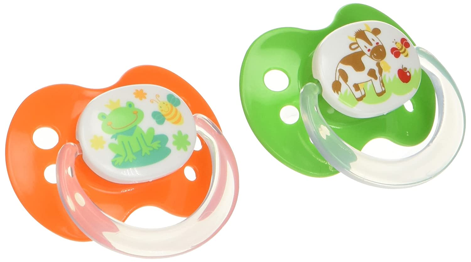Playtex Baby Binky Orthodontic Silicon BPA-Free Pacifiers, 6+ Months, Superfriends, Pack of 2 Pacifiers Edgewell Personal Care 10078300020643