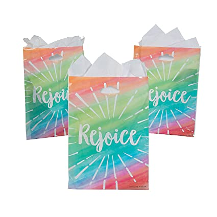 Amazon.com: Fun Express Rejoice - Bolsas grandes de plástico ...