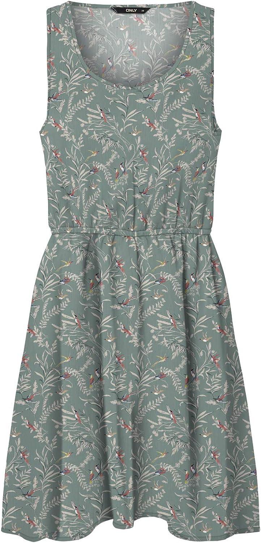 ONLY Damen Onlnova Life S//L Sara Dress AOP WVN Kleid