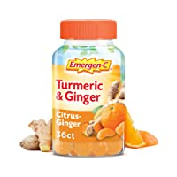 Emergen-C Citrus-Ginger Gummies, Turmeric and Ginger, Immune Support Natural Flavors...