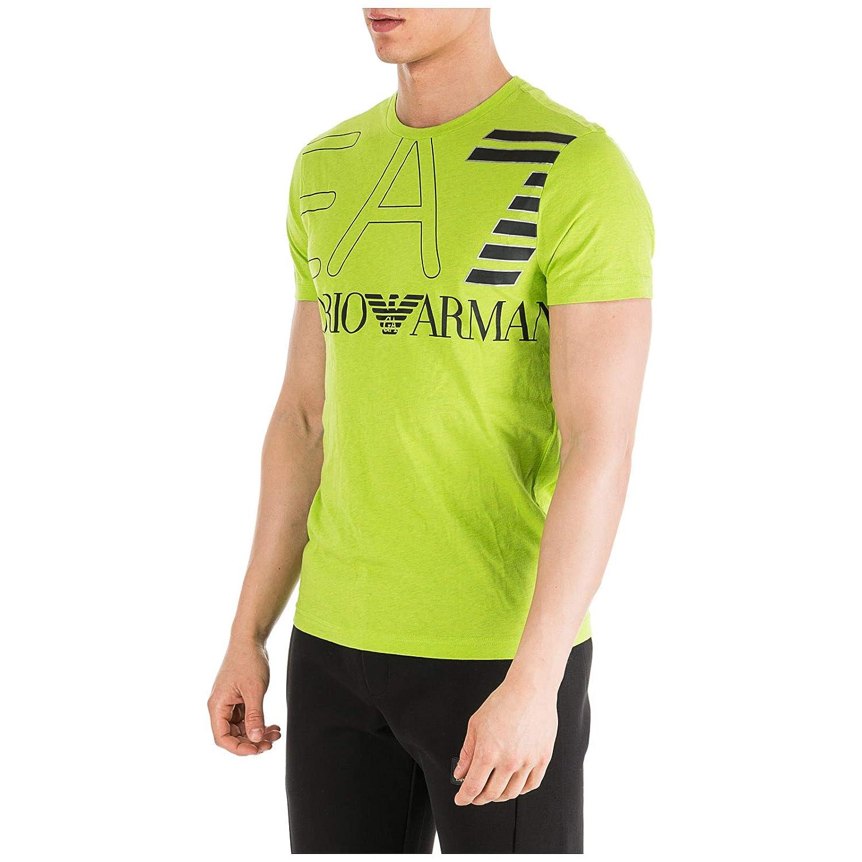Emporio Armani EA7 Camiseta Hombre Acid Green Melange M: Amazon.es ...