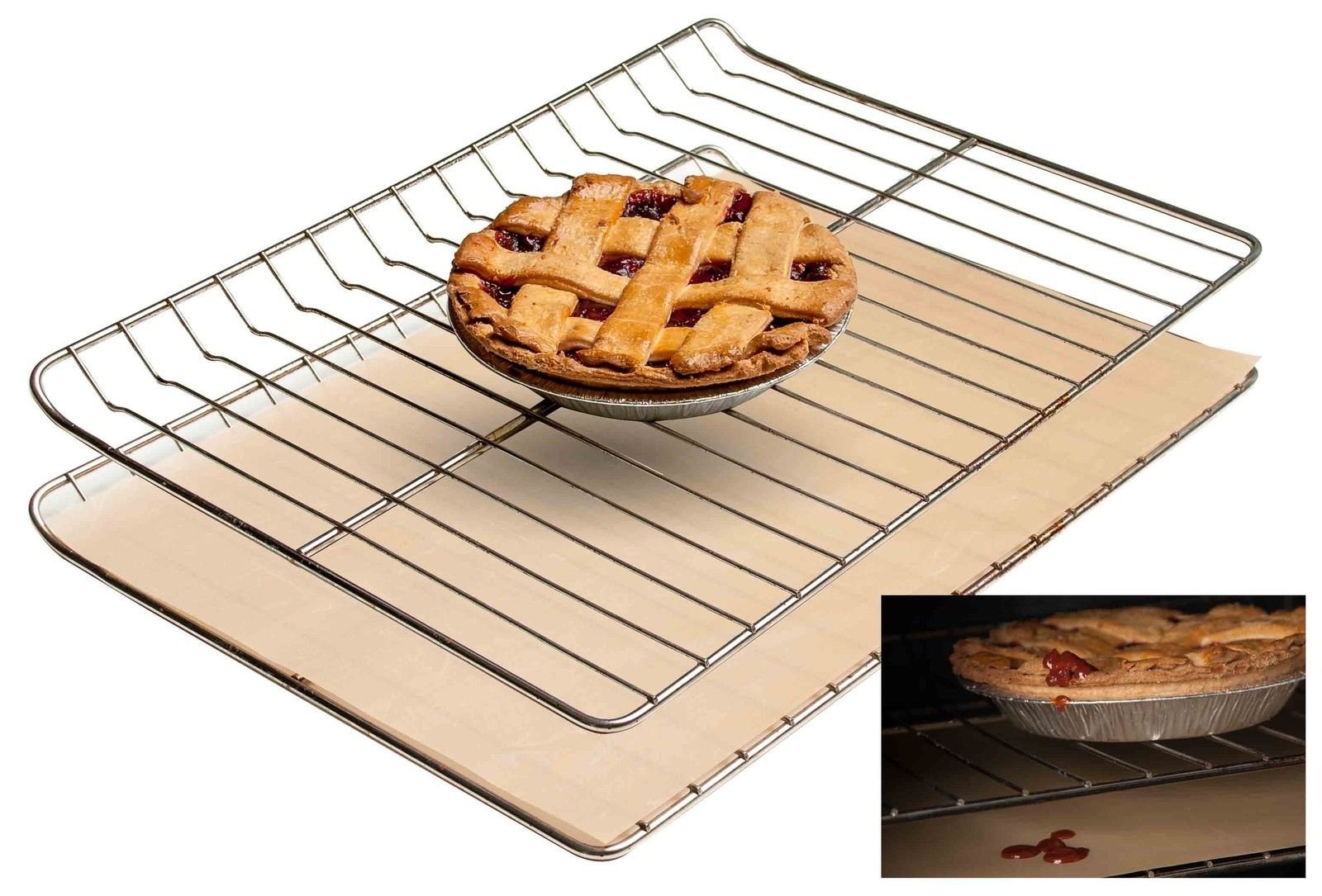 Non-stick Oven Liner - Heavy Duty Reusable Easy to Clean Baking Mat New