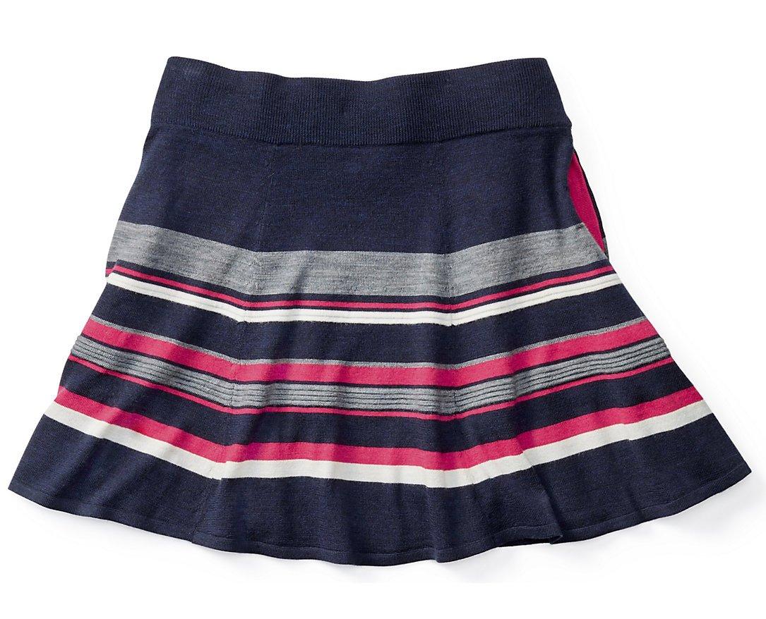 SmartWool Women's Cascade Valley Stripe Skater Skirt (Deep Navy) Large